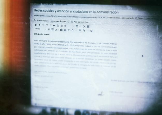 Redes sociales y atención al ciudadano en la Administración